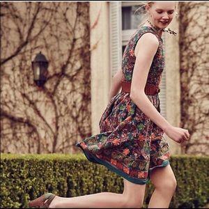 Adelyn Rae Anthropologie Needlepoint garden dress